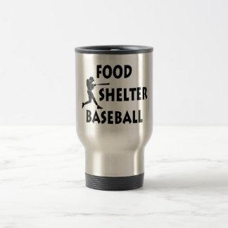 Food Shelter Baseball Travel Mug