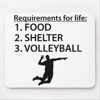 Food Shelter Volleyball Mouse Pad
