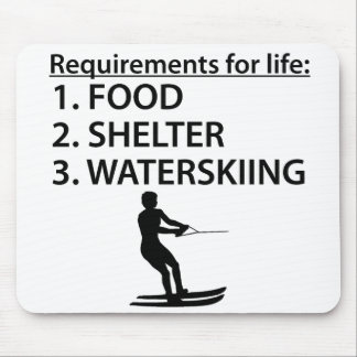 Food Shelter Waterskiing Mouse Pads