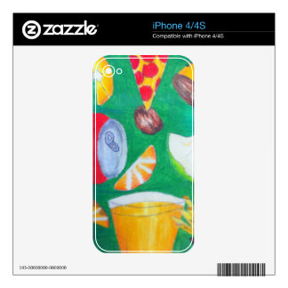 Food skin decals for iPhone 4