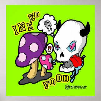 Food-Skull Poster