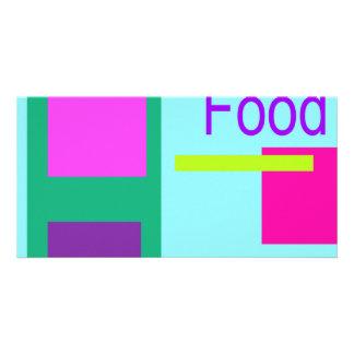 Food Sky Blue Photo Card