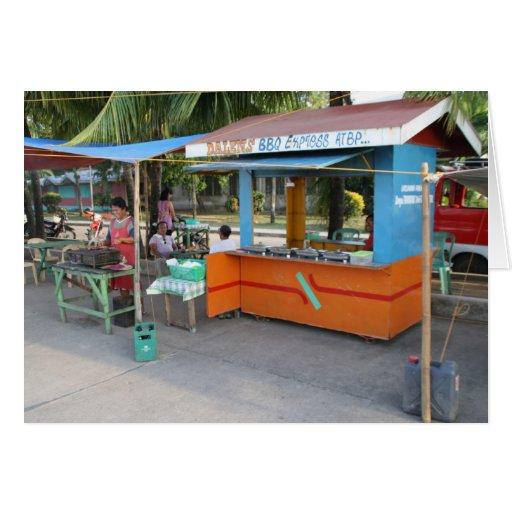 Food stall greeting card