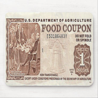 Food Stamp Mouse Pad