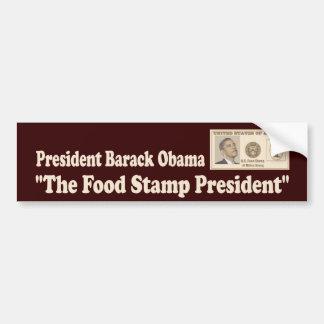 Food Stamp President Obama Bumper Sticker