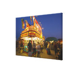 Food stand at the Northwest Montana Fair in Canvas Print