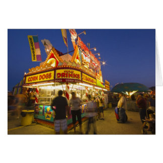 Food stand at the Northwest Montana Fair in Greeting Card
