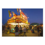 Food stand at the Northwest Montana Fair in Photo Print