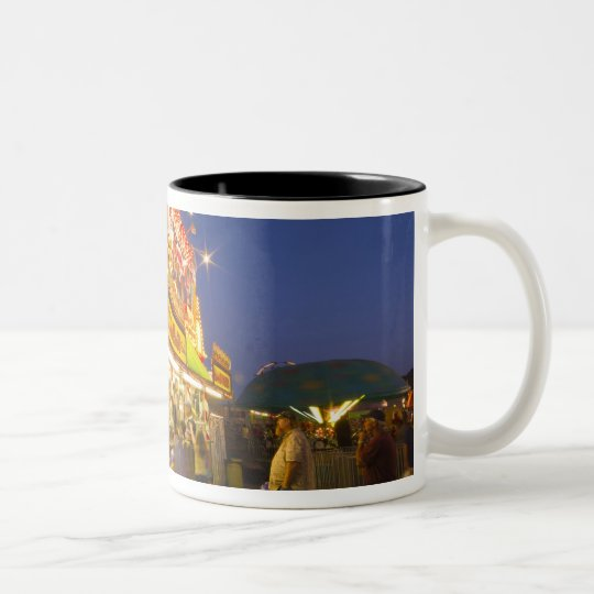 Food stand at the Northwest Montana Fair in Two-Tone Coffee Mug