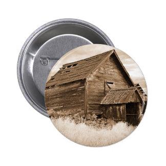 Food Storage Building ( Sepia ) Pinback Button