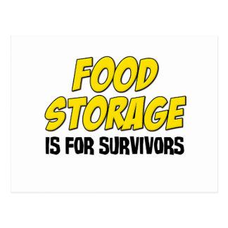 Food Storage is For Survivors Postcard