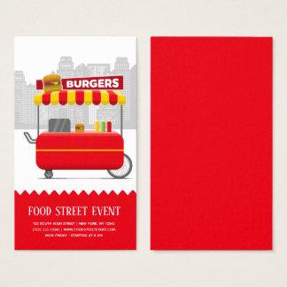 Food street burgers hamburgers business card