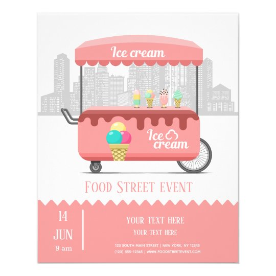 food street ice cream flyer
