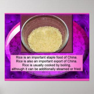 Food Studies, Chinese, Cooking rice Print