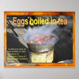 Food Studies, Chinese, Eggs boiled in tea Poster
