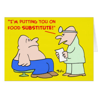 food subsitute card