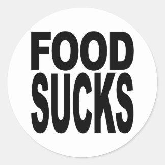 Food Sucks Classic Round Sticker