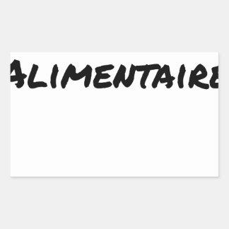 Food supplement - Word games Rectangular Sticker
