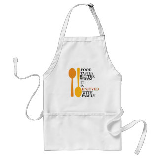 Food tastes better with family adult apron