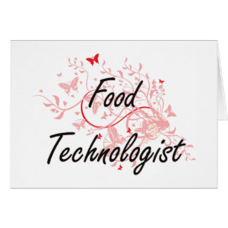 Food Technologist Artistic Job Design with Butterf Card