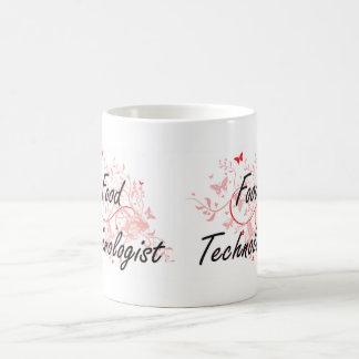 Food Technologist Artistic Job Design with Butterf Coffee Mug