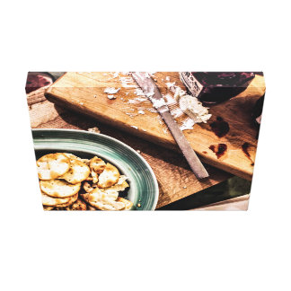 Food Themed, A Tray Full Of Baked Buiscuits With S Canvas Print