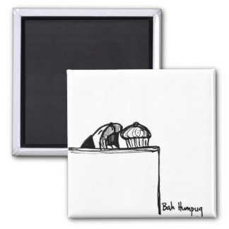 Food Thief 2 Inch Square Magnet