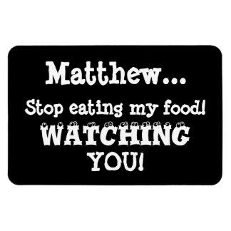 Food Thief Warning-Fridge Magnet Humor