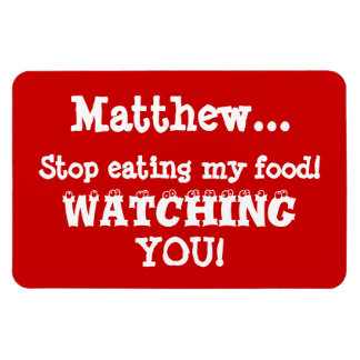 Food Thief Warning-Fridge Magnet Room-mate Humor