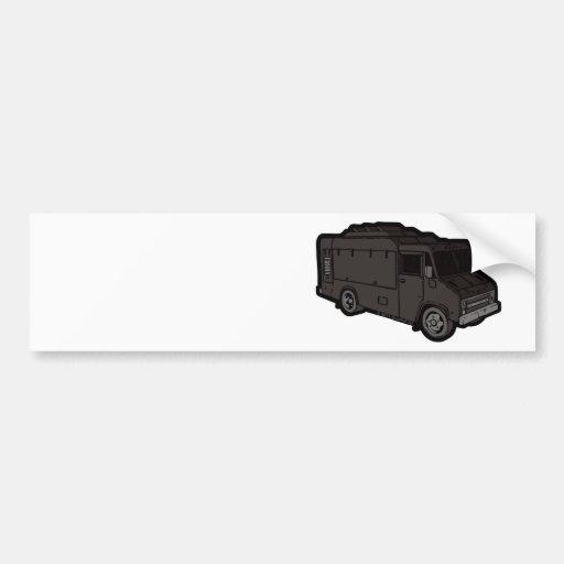 Food Truck: Basic (Black) Bumper Stickers