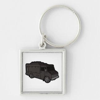 Food Truck: Basic (Black) Keychain