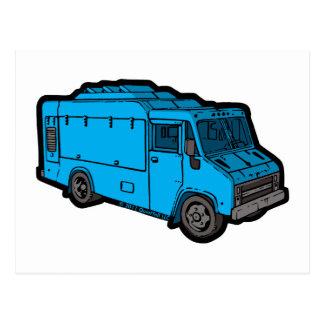 Food Truck: Basic (Blue) Postcards