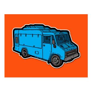 Food Truck: Basic (Blue) Post Card