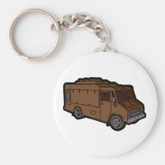 Food Truck: Basic (Brown) Keychain