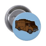Food Truck: Basic (Brown) Pinback Buttons