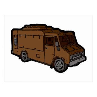 Food Truck: Basic (Brown) Postcards