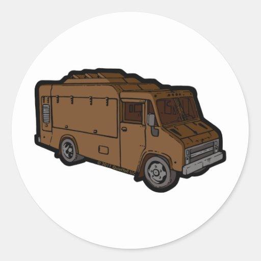 Food Truck: Basic (Brown) Sticker