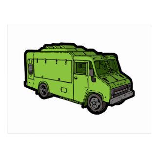 Food Truck: Basic (Green) Post Card
