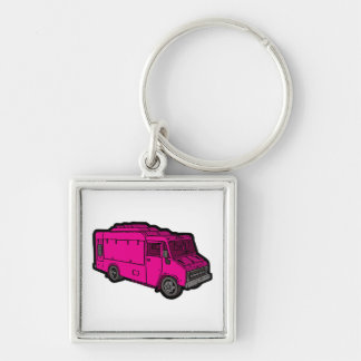 Food Truck: Basic (Pink) Keychain