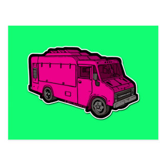Food Truck: Basic (Pink) Postcards
