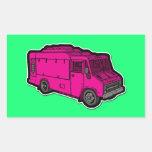 Food Truck: Basic (Pink) Rectangular Sticker