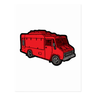 Food Truck: Basic (Red) Postcards