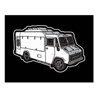 Food Truck: Basic (White) Post Cards