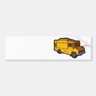 Food Truck: Basic (Yellow) Bumper Sticker