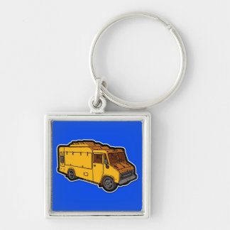 Food Truck: Basic (Yellow) Keychain
