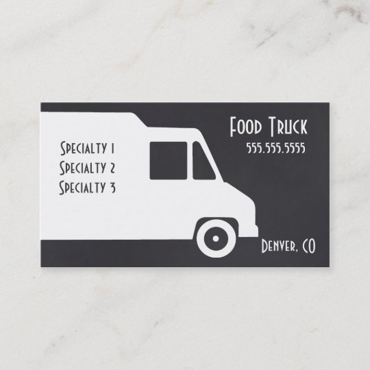 Food truck business card template zazzle food truck business card template friedricerecipe Images
