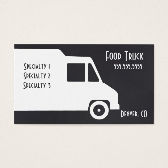 Food truck business card template zazzle food truck business card template pronofoot35fo Images