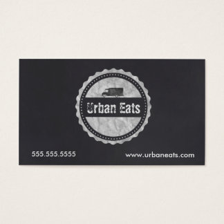 Food Truck Chalkboard Business Card Template