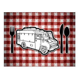 Food Truck Plate & Utensils Postcard
