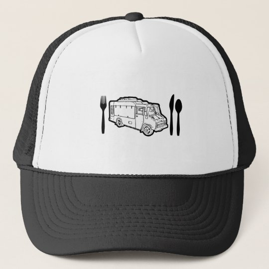 Food Truck Plate & Utensils Trucker Hat